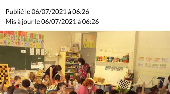 les échecs en Maternelle à Saint-Pierre des Corps !