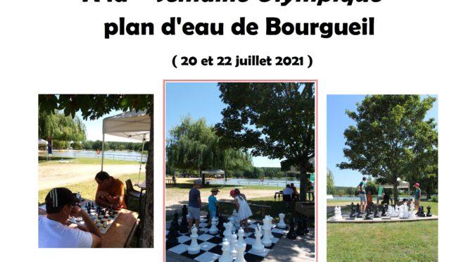 Le club de Bourgueil à la semaine olympique