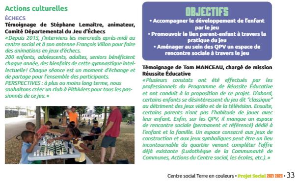 Les échecs partenaires du centre social de Pithiviers