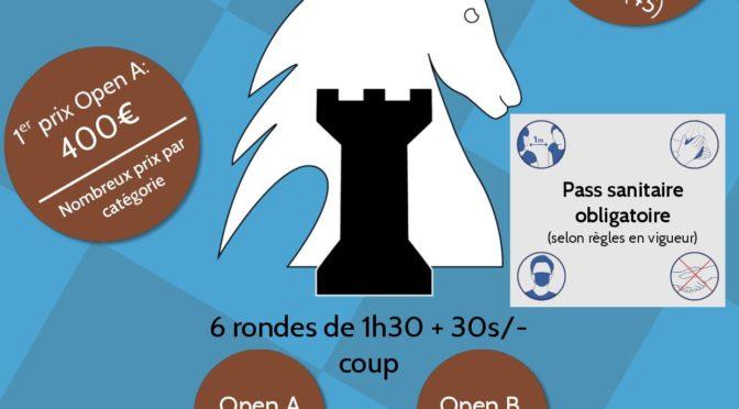 6ème Open Serge Dimier à Olivet – 30/10 et 01/11/21.